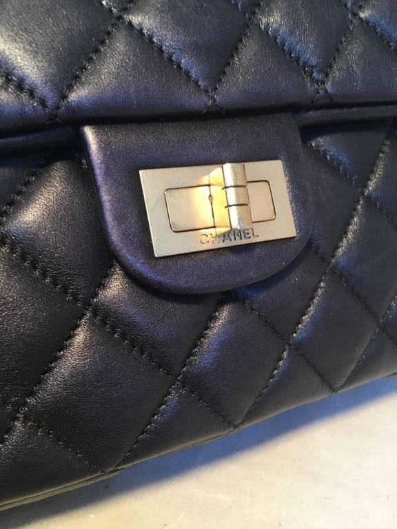 Chanel Black Quilted Soft Lambskin Leather Classic Flap Clutch  8