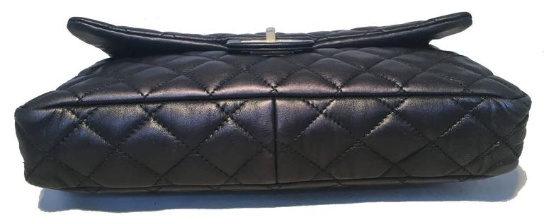Chanel Black Quilted Soft Lambskin Leather Classic Flap Clutch  5