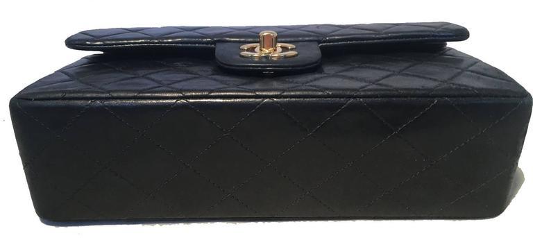 Women's Chanel Black 9inch 2.55 Double Flap Classic Shoulder Bag For Sale