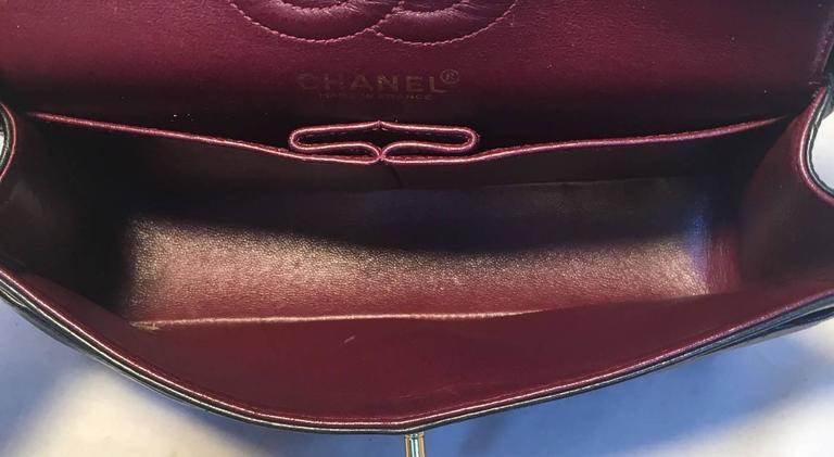 Chanel Black 9inch 2.55 Double Flap Classic Shoulder Bag For Sale 2