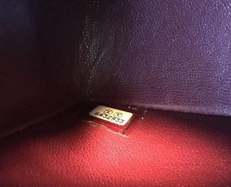 Chanel Black 9inch 2.55 Double Flap Classic Shoulder Bag For Sale 3
