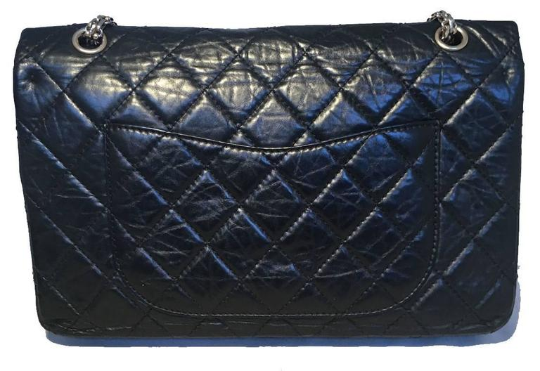 d34dd5920e5f16 GORGEOUS Chanel reissue 2.55 black jumbo double flap classic in excellent  condition. Black distressed leather