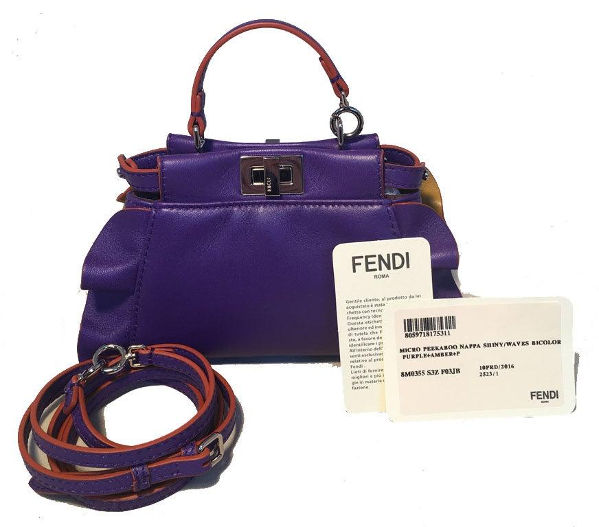 9252da026bb4 ... cheap 80c62 fd7f5  Fendi Micro Mini Peekaboo Bag in Purple and Amber  For Sale a check out e6298 6db3b ...