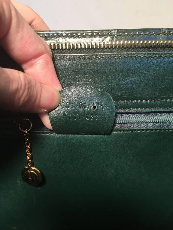 Gucci Vintage Green Alligator Shoulder Bag 6