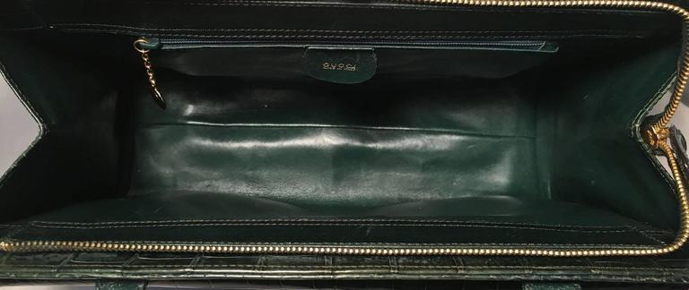 Gucci Vintage Green Alligator Shoulder Bag 7