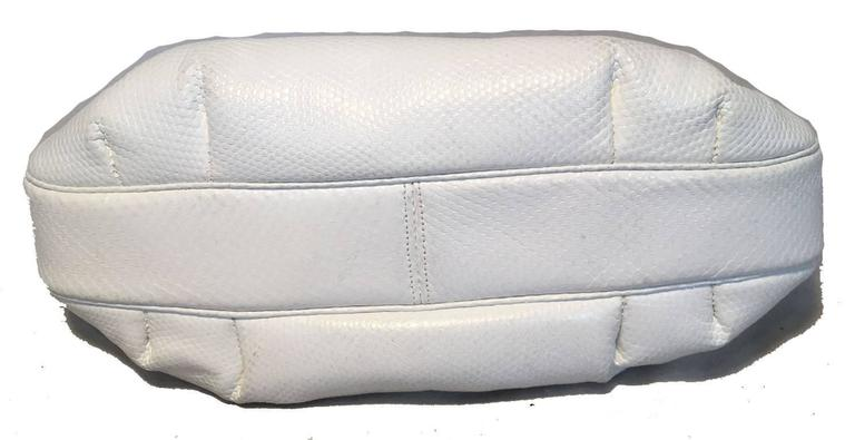Judith Leiber Vintage White Lizard Leather Clutch  For Sale 1