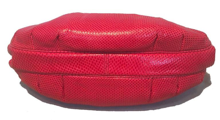 Women's Judith Leiber Vintage Red Lizard Leather Clutch For Sale