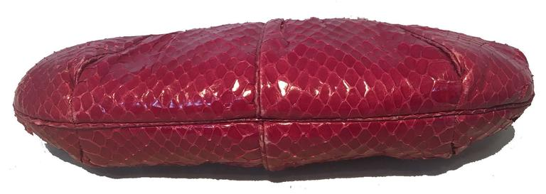Women's Judith Leiber Vintage Maroon Rose Snakeskin Clutch  For Sale