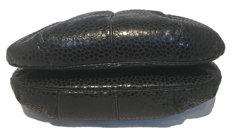 Judith Leiber Vintage Black Lizard Leather Clutch 5