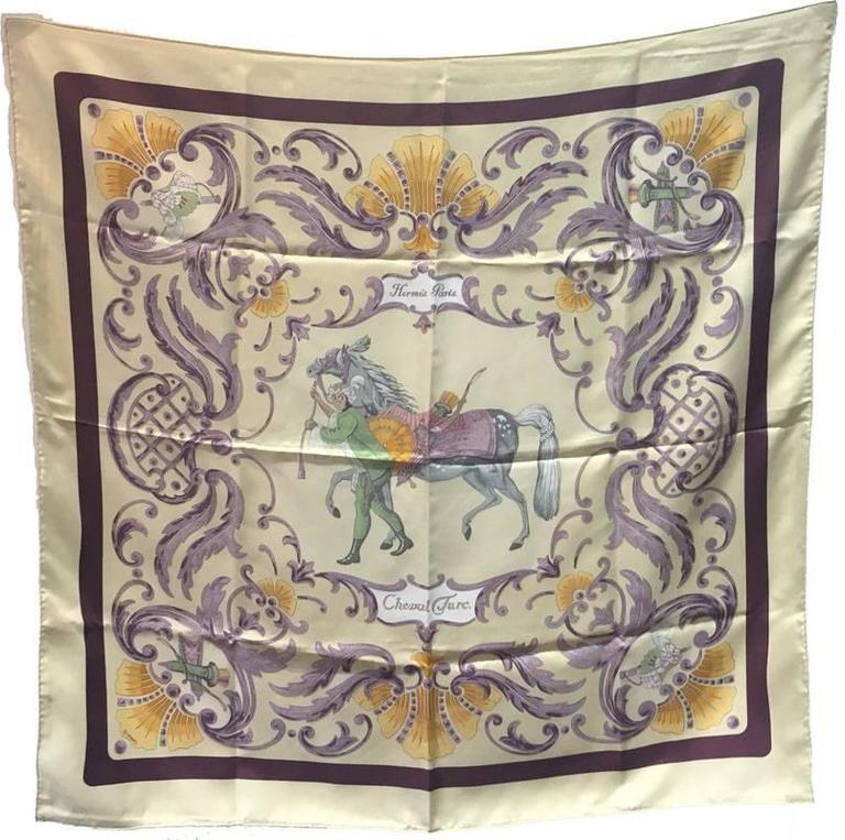 Hermes Vintage Cheval Turc Silk Scarf c1960s