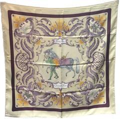 Hermes Vintage Cheval Turc Silk Scarf, circa 1960s