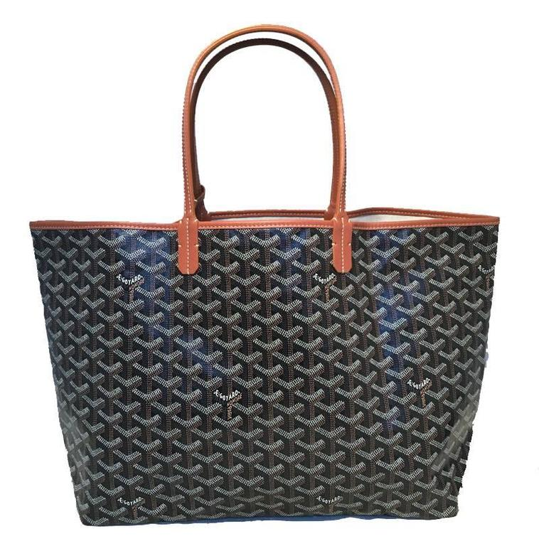 Goyard St Louis PM Tote in Black and Brown 2