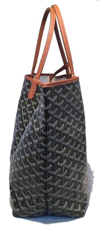 Goyard St Louis PM Tote in Black and Brown 3