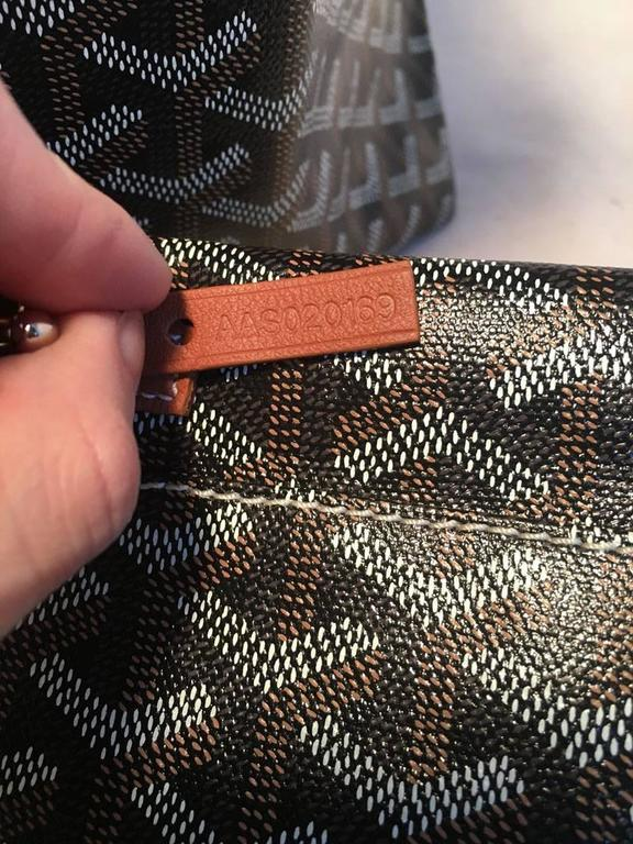 Goyard St Louis PM Tote in Black and Brown 7
