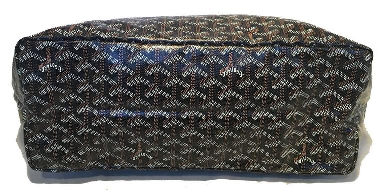 Goyard St Louis PM Tote in Black and Brown 4