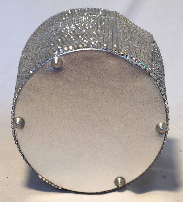 Judith Leiber Vintage Swarovski Crystal Basket Evening Bag In Good Condition For Sale In Philadelphia, PA