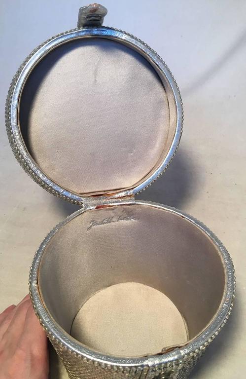 Judith Leiber Vintage Swarovski Crystal Basket Evening Bag For Sale 1