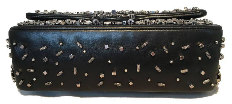 RARE Chanel Black Leather Studded Classic Flap 2.55 Shoulder Bag 5