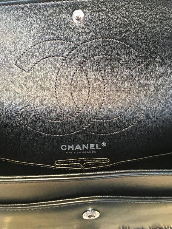 RARE Chanel Black Leather Studded Classic Flap 2.55 Shoulder Bag 10