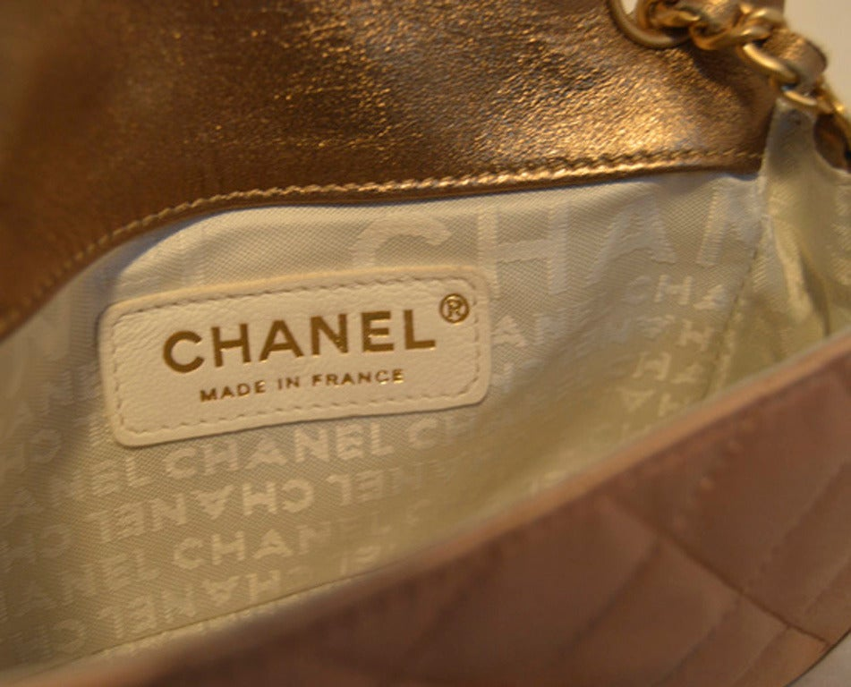 Chanel Pale Pink Quilted Satin Mini Classic Flap Evening Bag 5