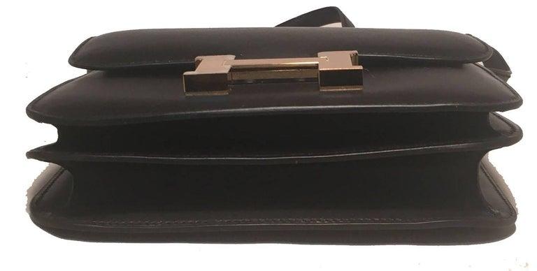 Hermes 18cm Mini Black Box Calf Constance Shoulder Bag For Sale 1