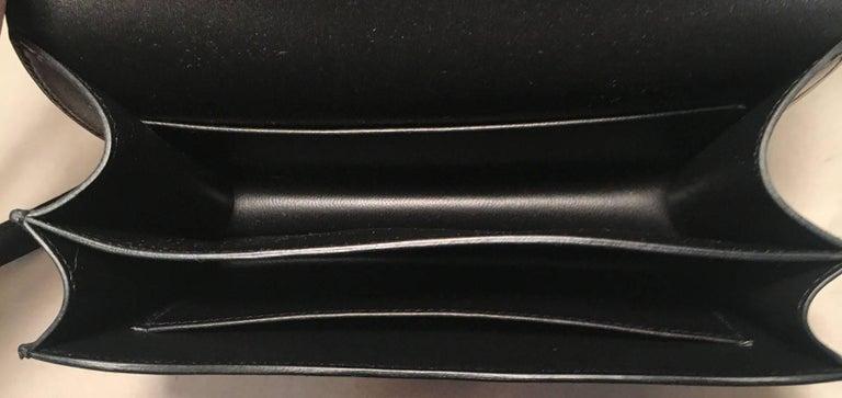 Hermes 18cm Mini Black Box Calf Constance Shoulder Bag For Sale 3