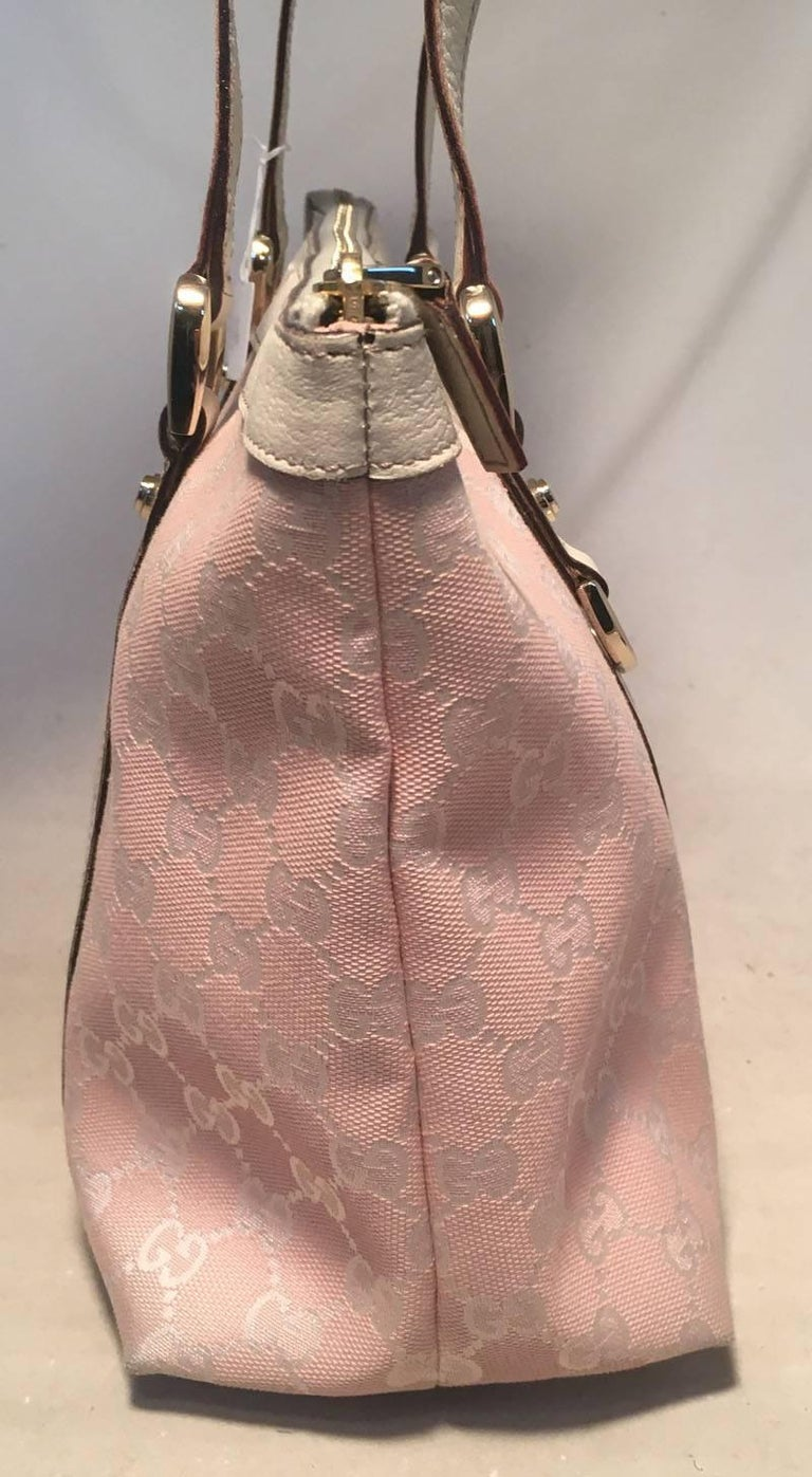 09555da900c BEAUTIFUL Gucci pink medium abbey tote in very good condition. Pink monogram  canvas trimmed with