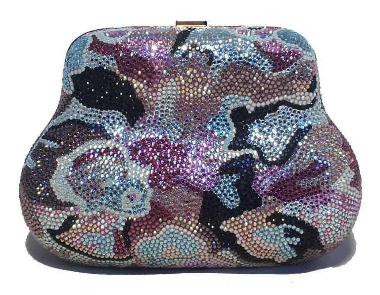Judith Leiber Swarovski Crystal Mutlicolored Mini Purse Minaudiere Evening Bag 4