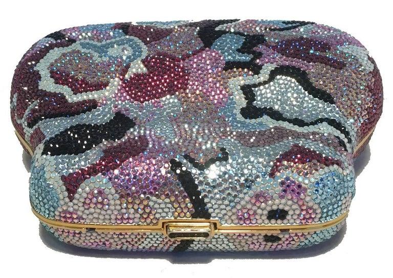 Women's Judith Leiber Swarovski Crystal Mutlicolored Mini Purse Minaudiere Evening Bag For Sale