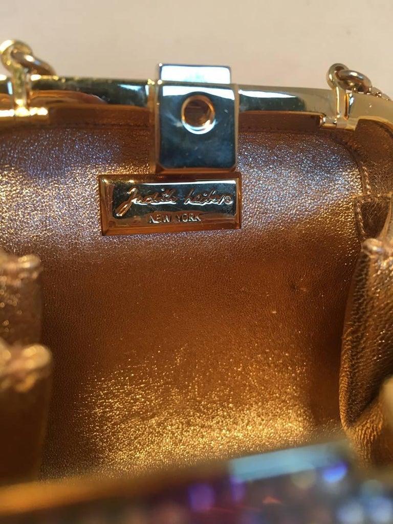 Judith Leiber Swarovski Crystal Mutlicolored Mini Purse Minaudiere Evening Bag For Sale 2