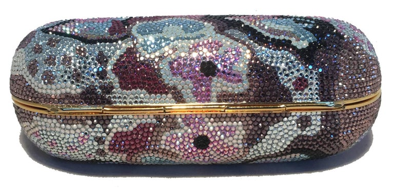 Judith Leiber Swarovski Crystal Mutlicolored Mini Purse Minaudiere Evening Bag For Sale 3