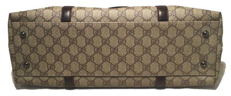 Gray Gucci Monogram Joy Tote PM Dark Brown For Sale