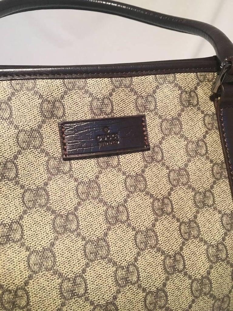Women's Gucci Monogram Joy Tote PM Dark Brown For Sale