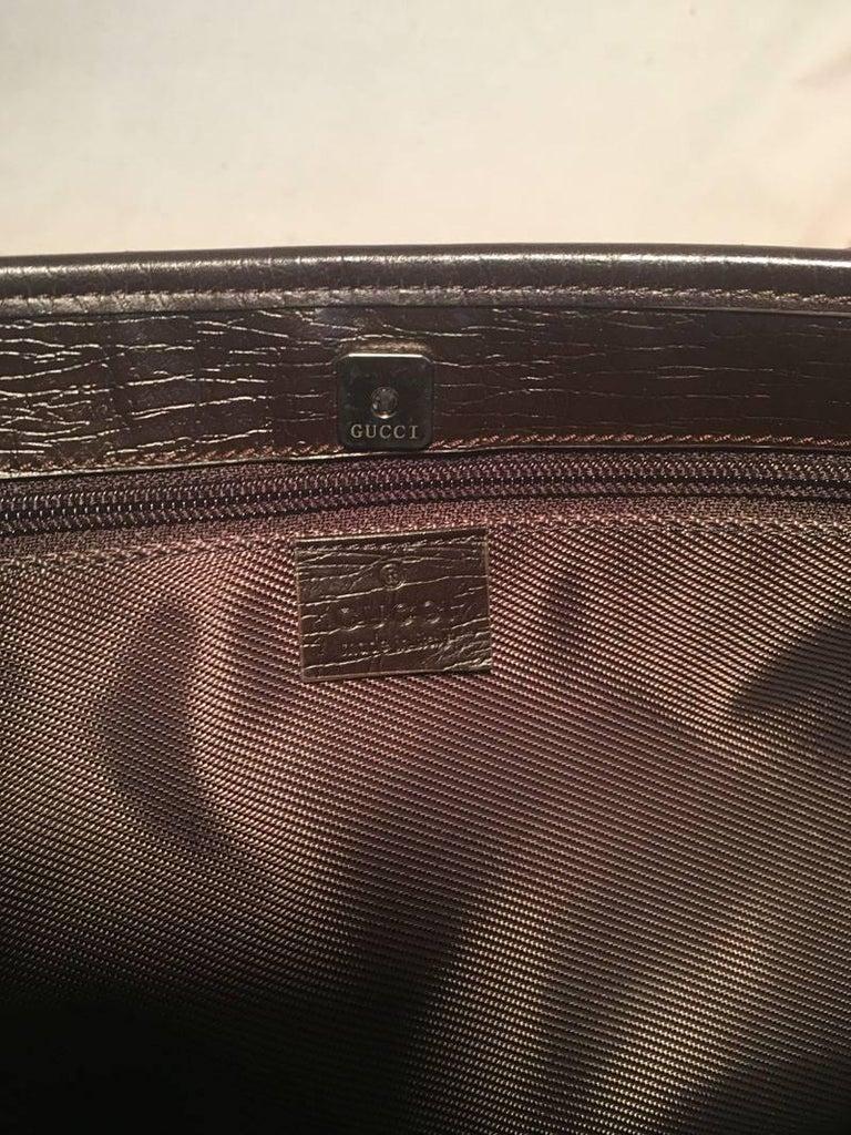 Gucci Monogram Joy Tote PM Dark Brown For Sale 2
