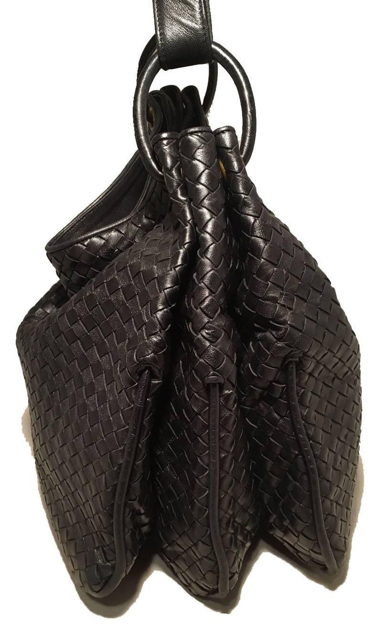 Bottega Veneta Woven Black Leather Shoulder Bag  2