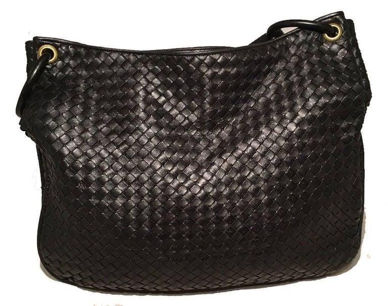 Bottega Veneta Woven Black Leather Shoulder Bag  3