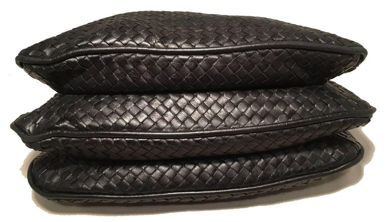 Bottega Veneta Woven Black Leather Shoulder Bag  4