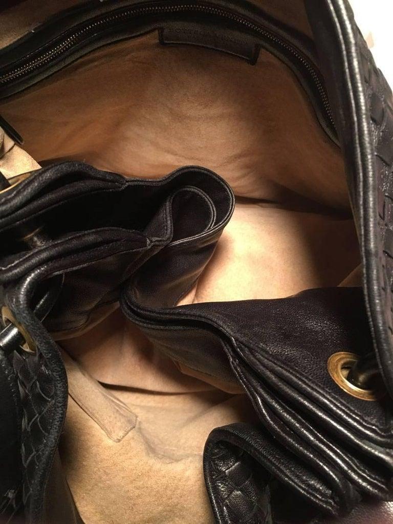 Bottega Veneta Woven Black Leather Shoulder Bag  5
