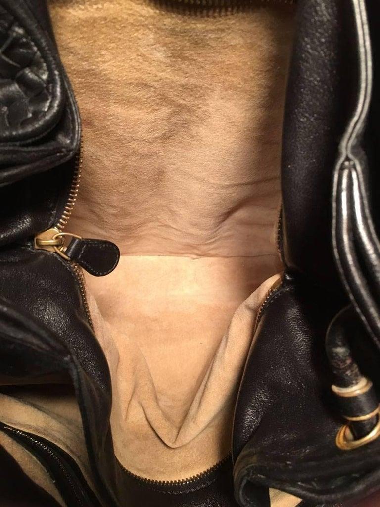 Bottega Veneta Woven Black Leather Shoulder Bag  6