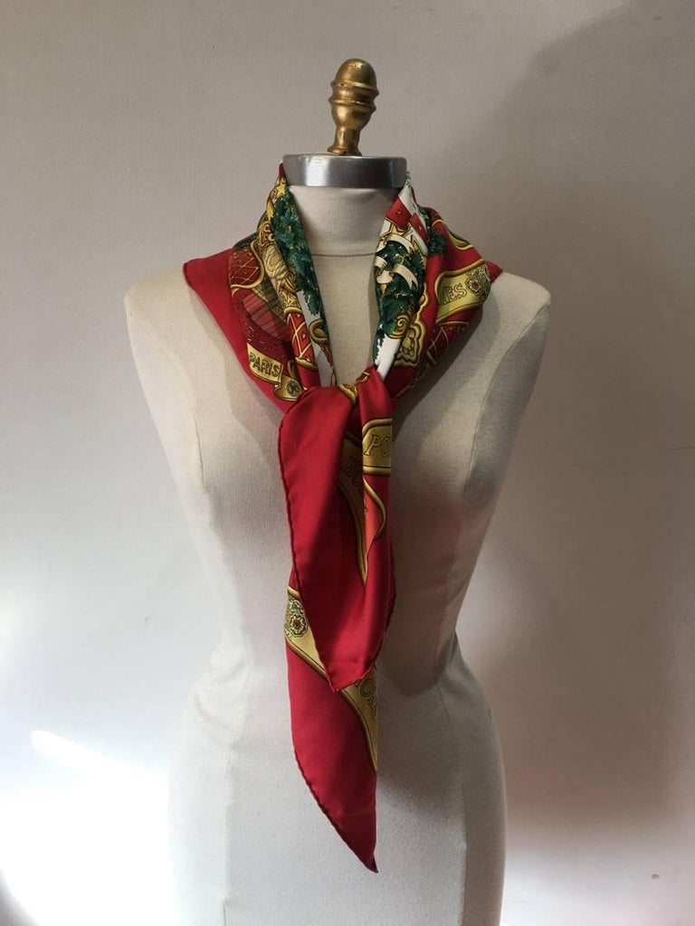 hermes vintage europe silk scarf in c1993 for sale at