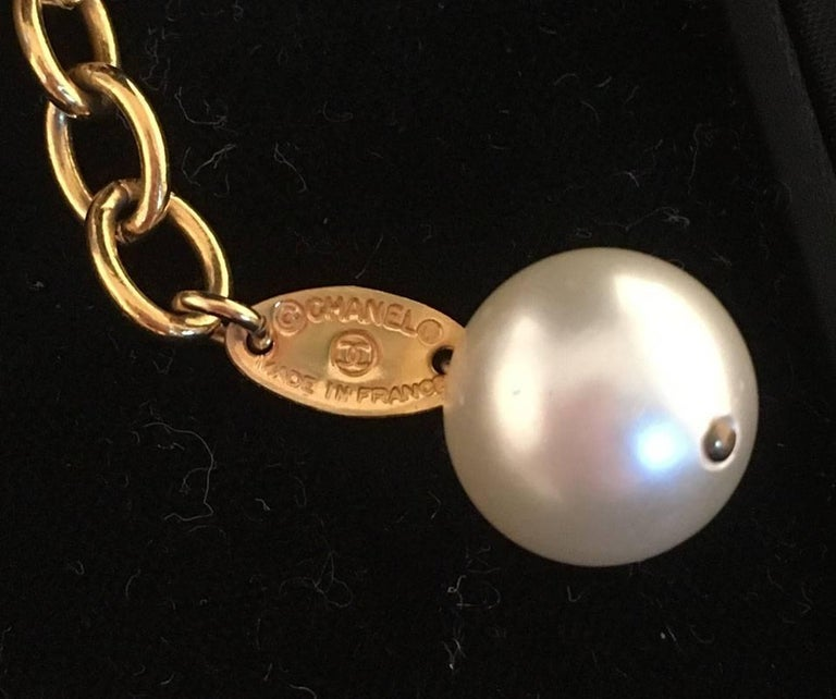 RARE Chanel Pearl and Enamel Necklace and Bracelet Set Presentation Box 7