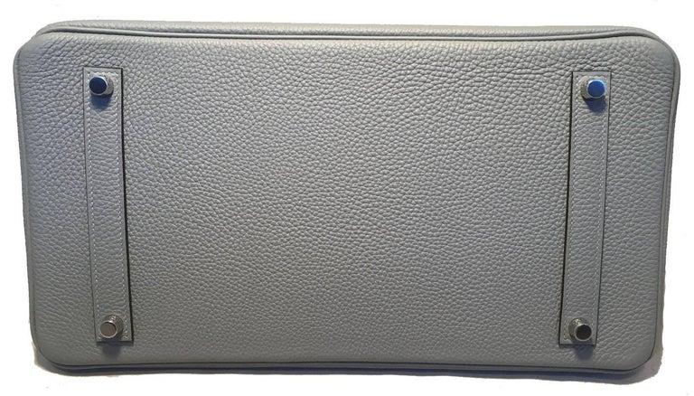 Hermes Custom Made Grey 35cm Togo Birkin Bag, 2017  For Sale 1