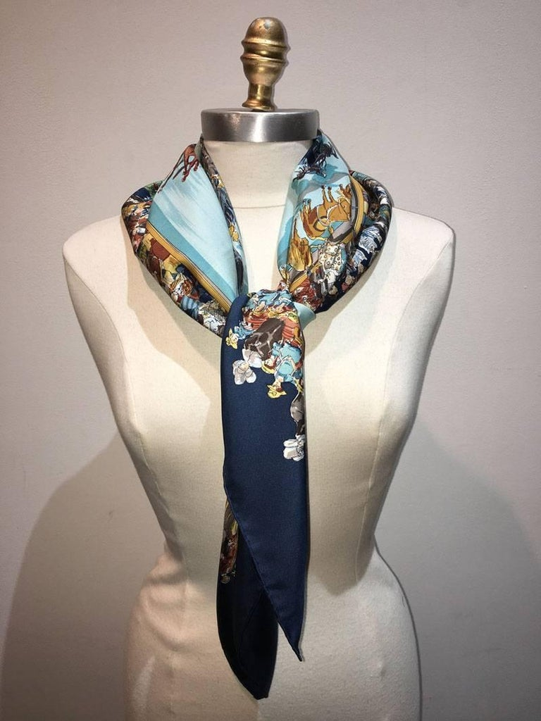 Hermes Vintage Cirque Molier Silk Scarf For Sale At 1stdibs