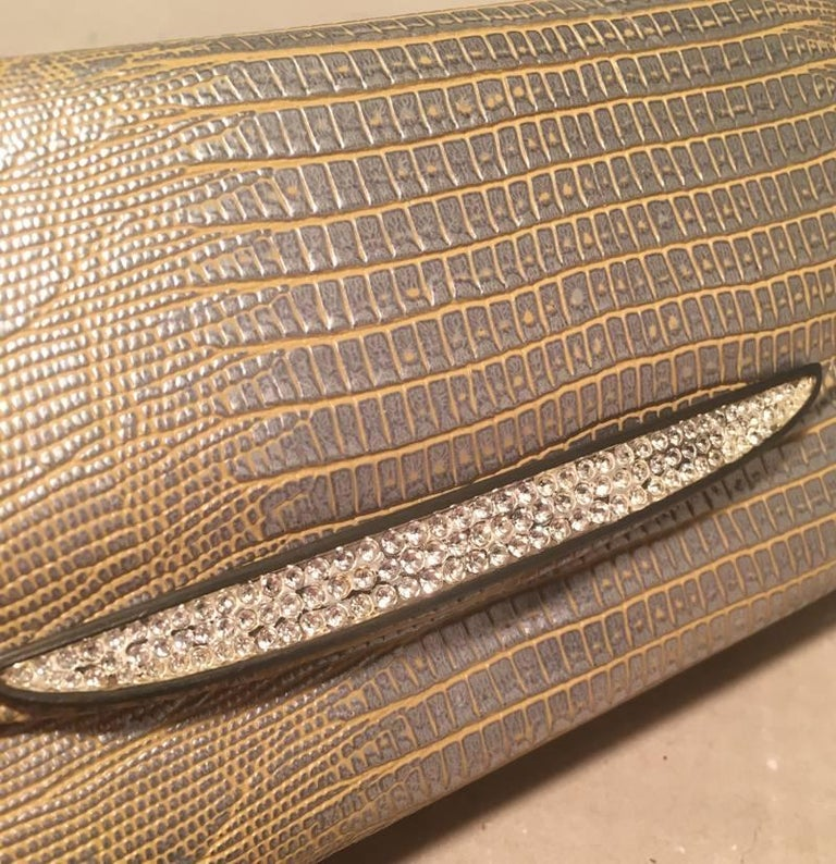 Women's Judith Leiber Lizard Crystal Sunglass Ccase For Sale