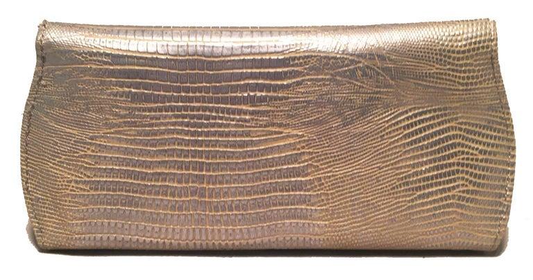 Brown Judith Leiber Lizard Crystal Sunglass Ccase For Sale