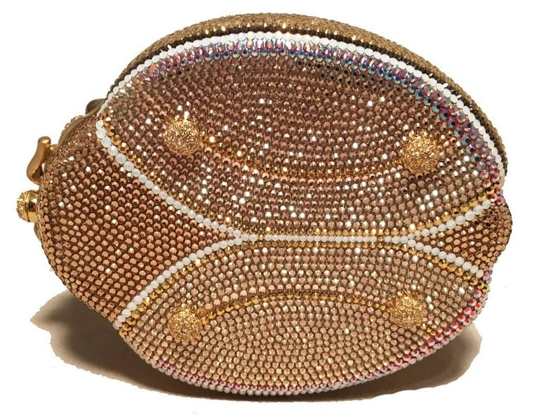 Women's Judith Leiber 45th Anniversary Edition Crystal Gold Ladybug Minaudiere For Sale