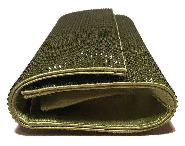 Black Judith Leiber Green Crystal Evening Bag Clutch For Sale
