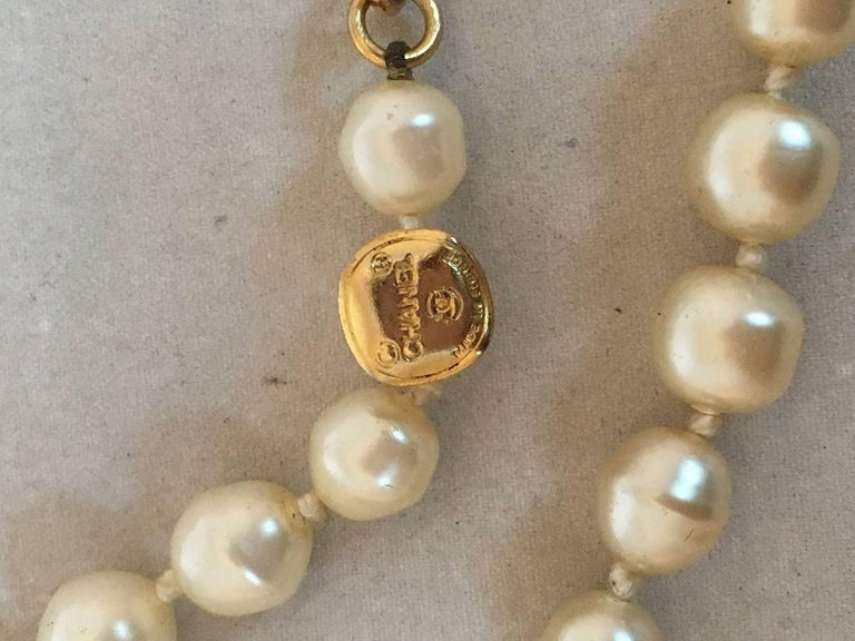 Chanel Vintage Pearl and Crystal Beaded Necklace For Sale 2