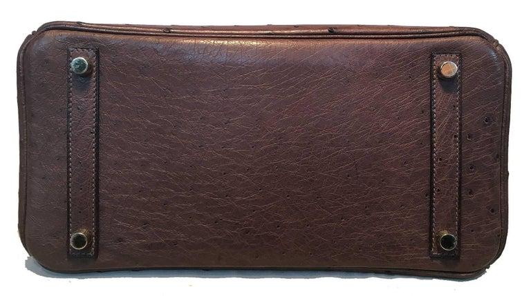 Women's STUNNING Hermes Brown Ostrich 30cm Birkin Bag For Sale