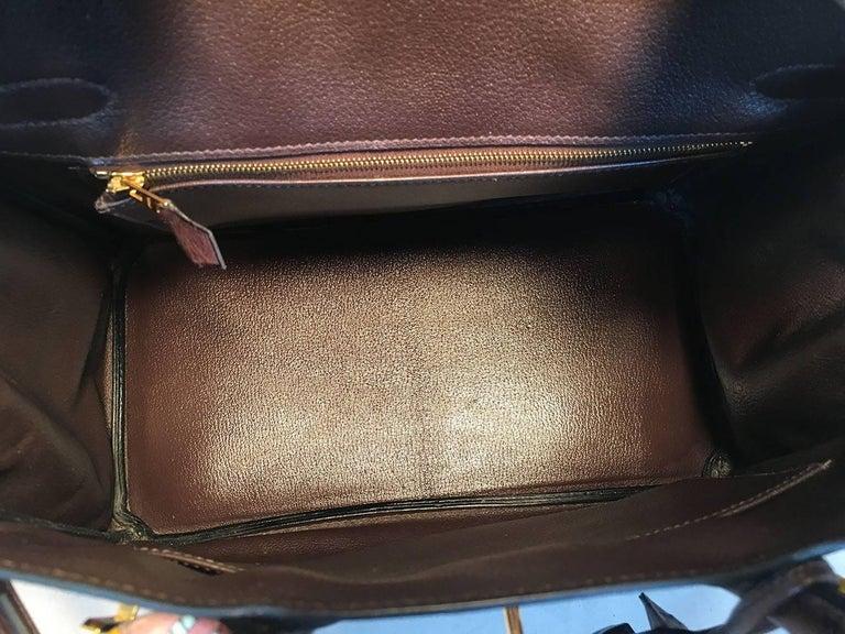 STUNNING Hermes Brown Ostrich 30cm Birkin Bag For Sale 5